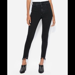 8R Express Super High-Waisted Denim Ankle Legging